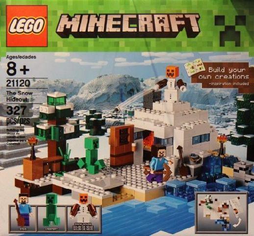 Lego-Minecraft,Ascunzisul din zapada