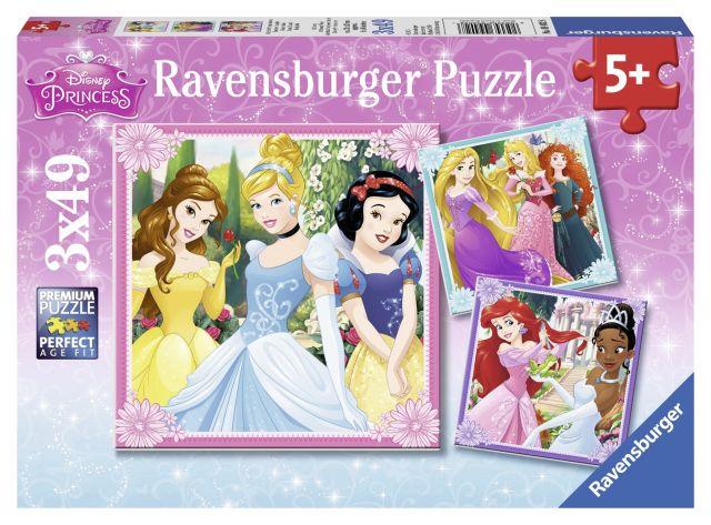 Puzzle Printese Disney,3x49 pcs
