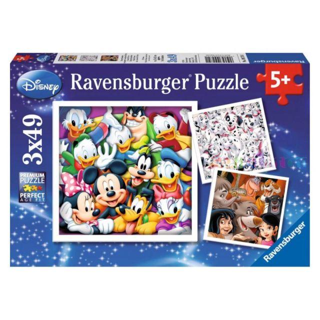 Puzzle Disney clasic,3x49 pcs