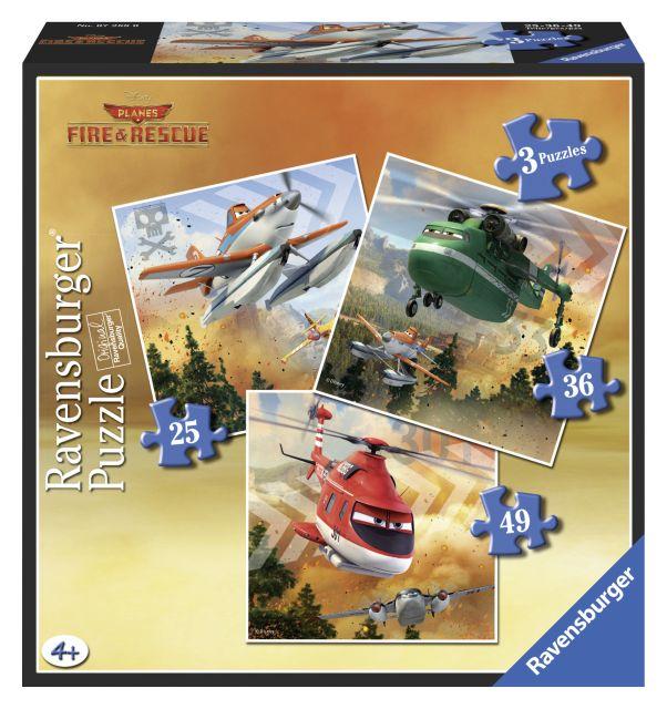 Puzzle Dinsey Planes,echipa de salvare, 25/36/49 pcs