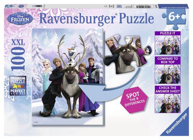 Puzzle Frozen,gaseste diferenta,100 pcs