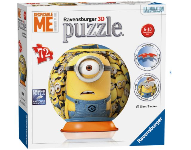 Puzzle 3D Minions,Despicable me,72 pcs