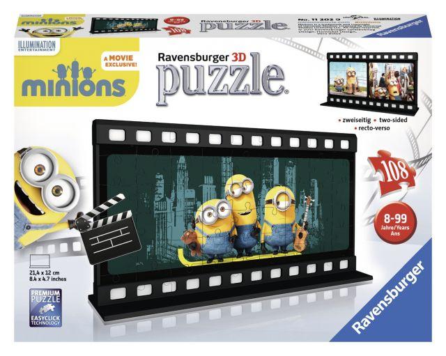 Puzzle 3D Minions,Diafilm, 108 pcs