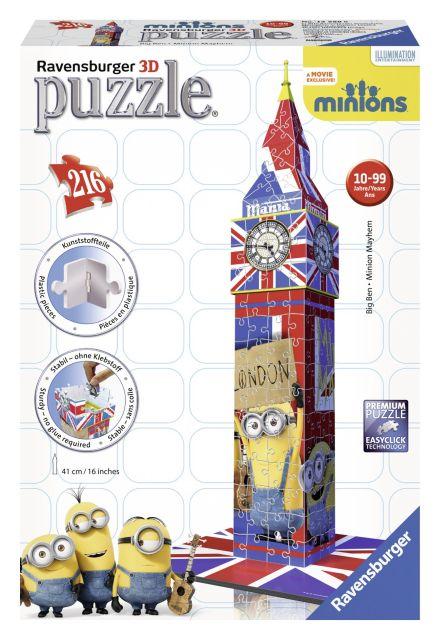 Puzzle 3D Minions,Big Ben,216 pcs