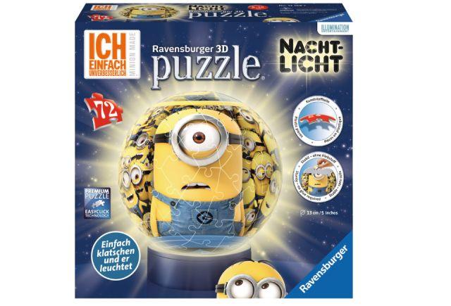Puzzle 3D Minions,Night edition,72 pcs