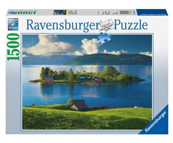 Puzzle Insula Din Hordaland, Norvegia 1500  Piese