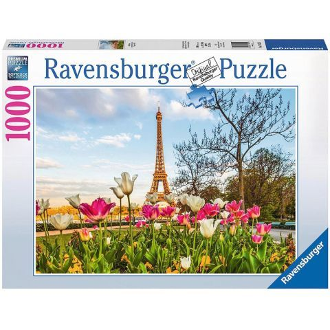 Puzzle Lalele Si Turnul Eiffel, 1000 Piese