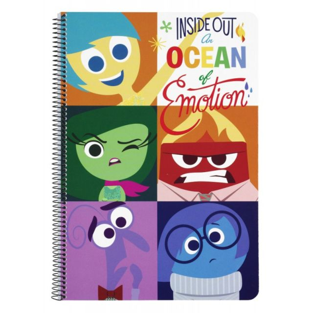 Caiet spira A4,80file,Inside Out