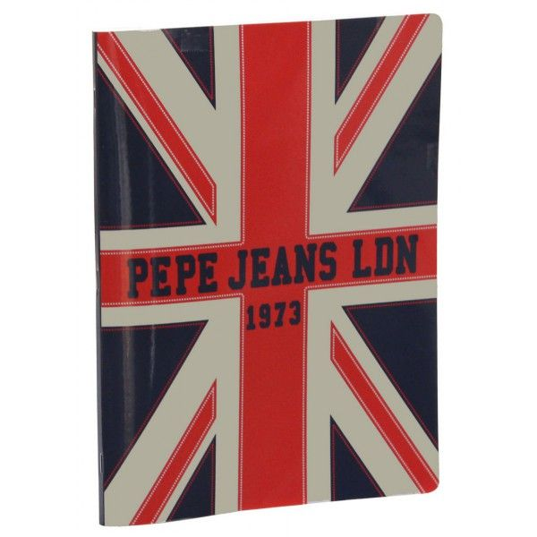 Caiet A4,80f,PepeJeans,engl,mate