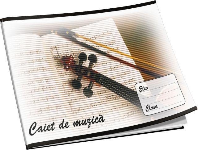 Caiet muzica,16file