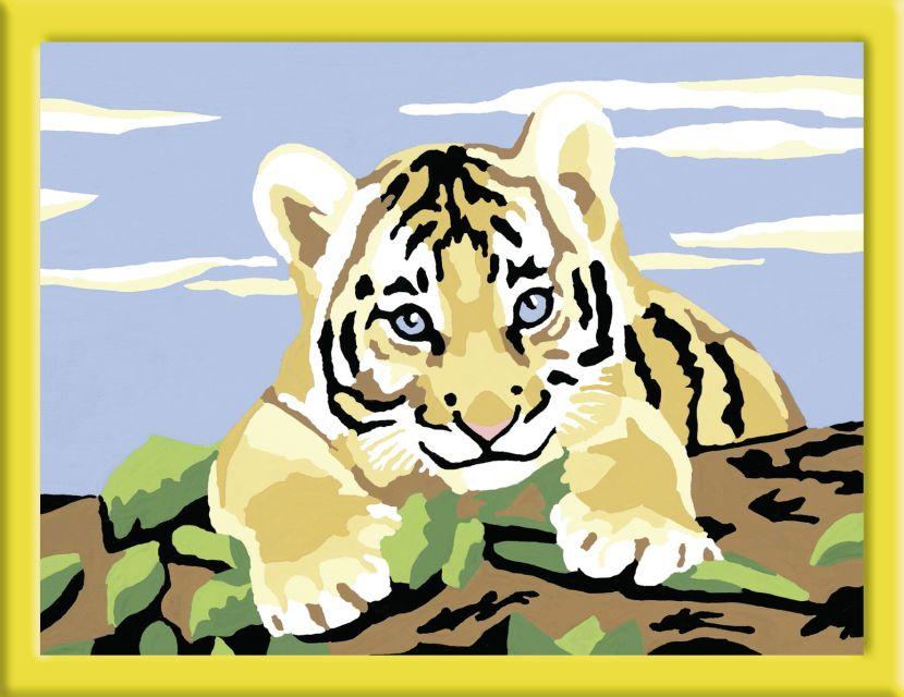 Ravensburger-Pictura pe nr,Pui tigru,7+