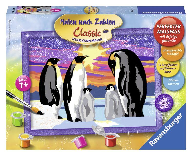 Ravensburger-Pictura pe nr,Familie de pinguini,7+
