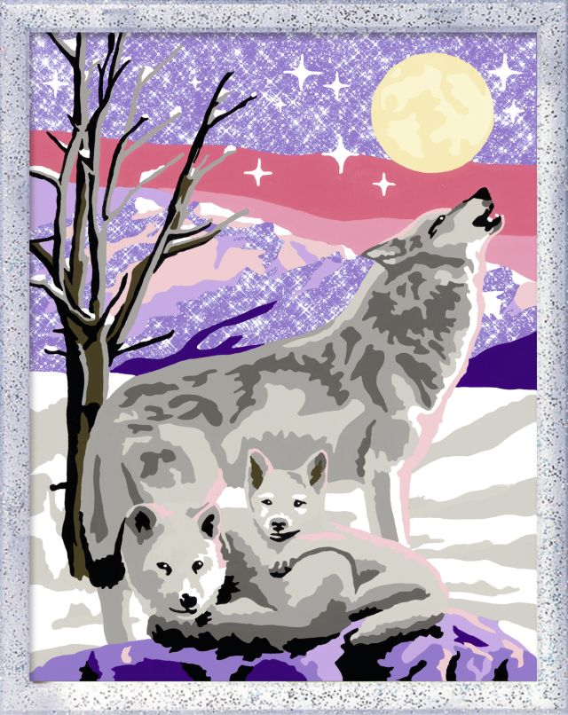 Ravensburger-Pictura pe nr,Familie de lupi,9+
