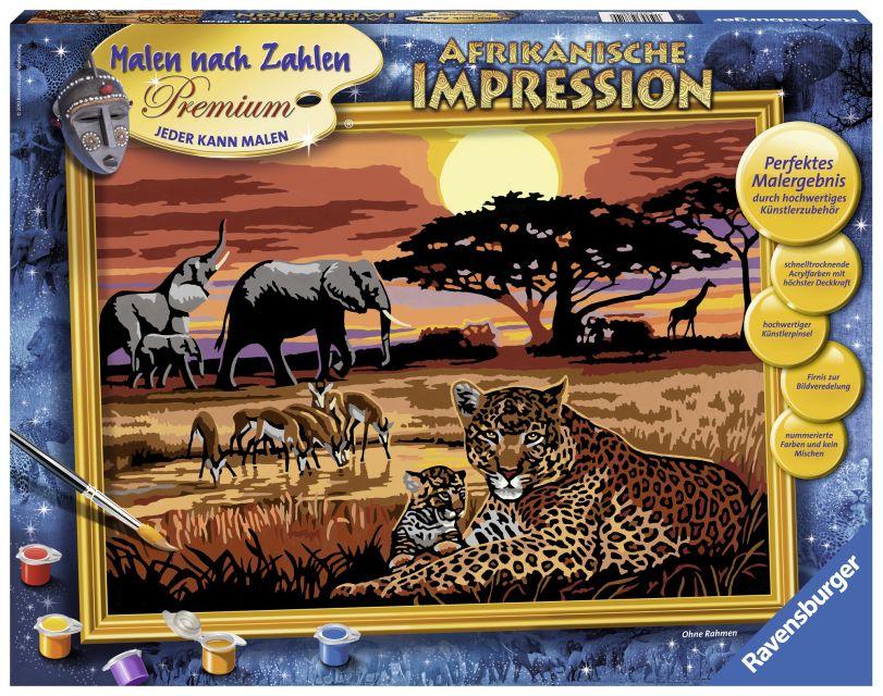 Ravensburger-Pictura pe nr,Safari African,14+