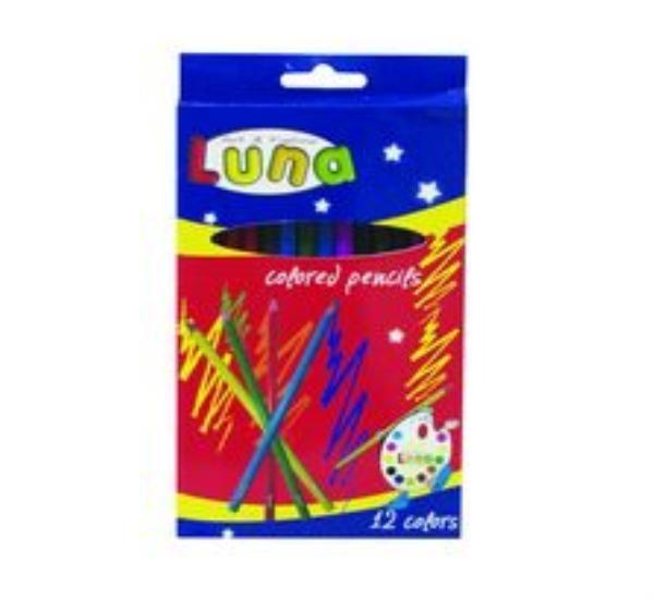 Creioane colorate,12buc/set,Luna