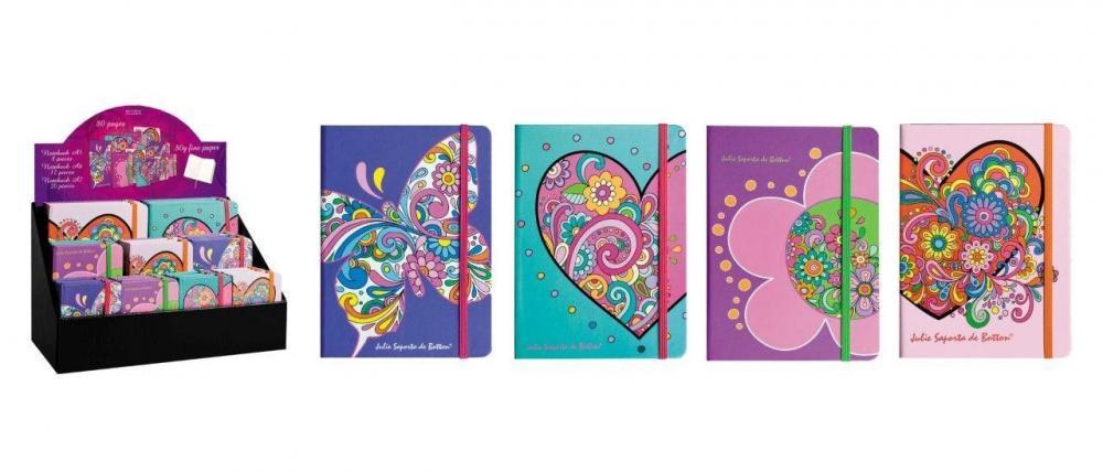 Agenda A6,80file,elastic,dictando,floral