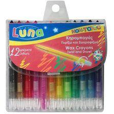 Creioane cerate,12buc/buc,Twist,Luna