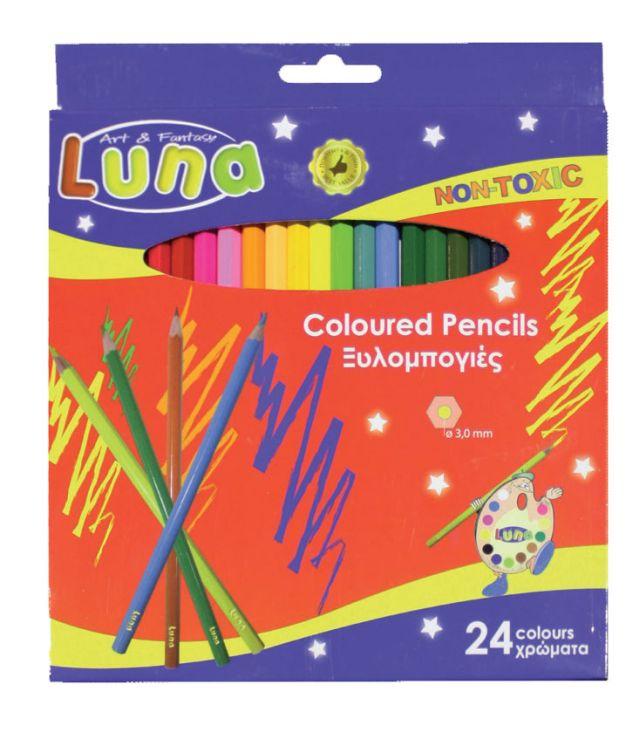 Creioane colorate,24buc/set,Luna