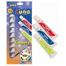 Tempera Luna,7.5ml/tub,12culori
