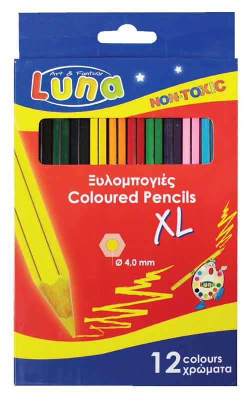 Creioane colorate,12buc/set,Jumbo,Luna