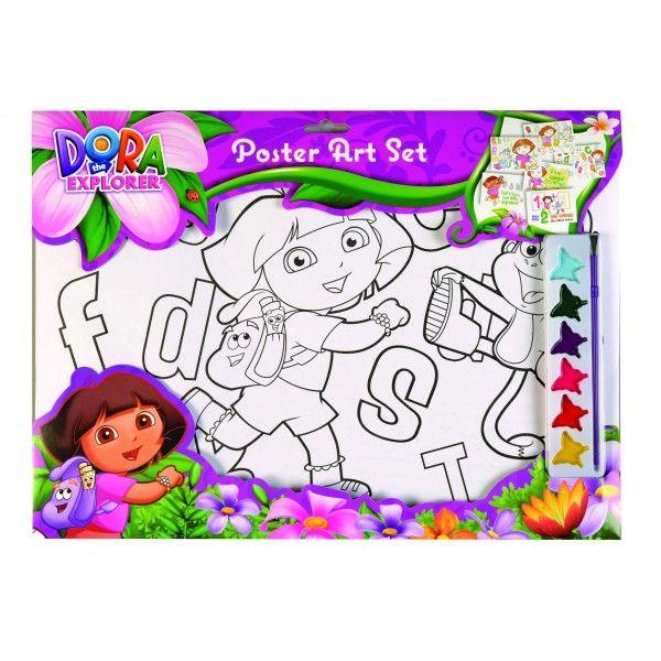 Panza pictura,cu coloriaj,43x31cm,Dora