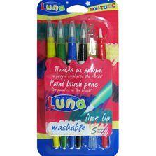 Pensule recipient culoare,Luna,5buc/set
