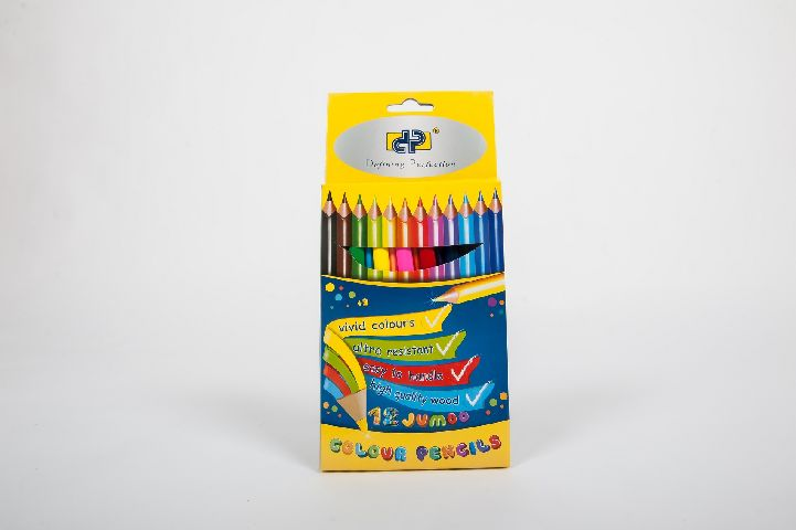 Creioane colorate 12 buc/set,jumbo,DP Premium