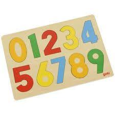 Puzzle lemn,cifre,10pcs,30x21cm,Goki