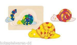 Puzzle lemn,multistrat,melc,11pcs,Goki