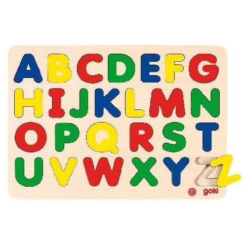 Puzzle lemn,alfabet,26pcs,30x21cm,Goki