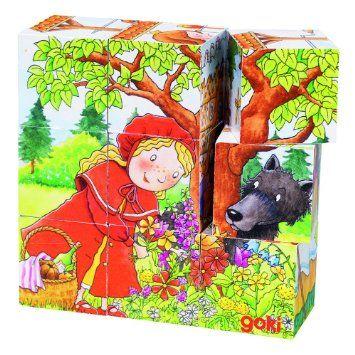 Puzzle lemn,cuburi,povesti,9cuburi,Goki