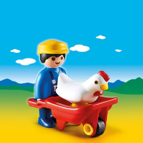 Playmobil-Fermierul cu roaba