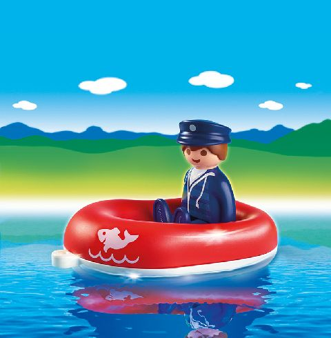 Playmobil-Barbatul cu barca