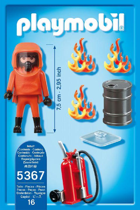 Playmobil-Pompierul fortelor speciale