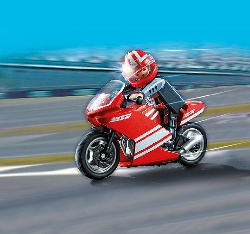 Playmobil-Motocicleta rosie