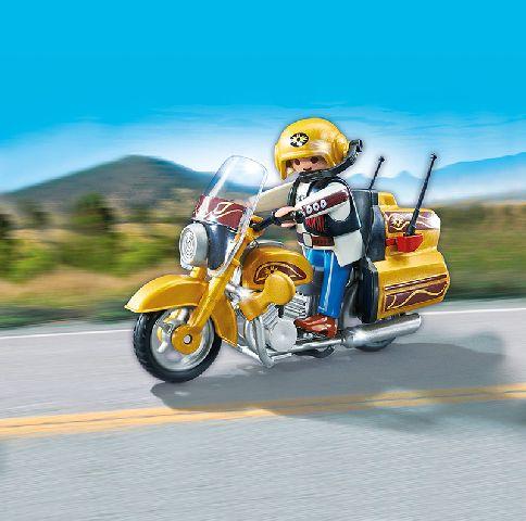 Playmobil-Motocicleta de calatorie