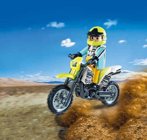 Playmobil-Motocicleta motocross