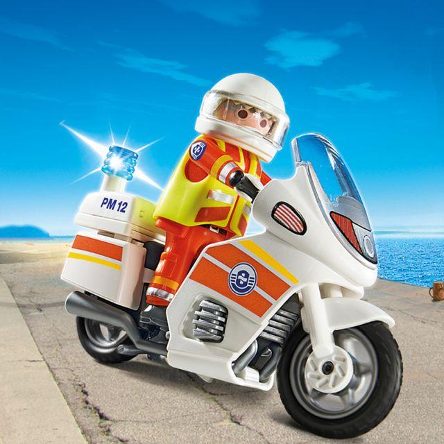 Playmobil-Motocicleta de urgenta,lumini