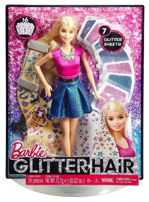 Papusa Barbie,par cu sclipici,set
