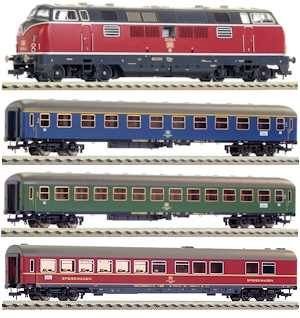 Start set digital tren expres cu locomotiva BR 221, DB, Epoca IV