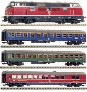 Start set digital tren expres cu locomotiva BR 221, DB, Epoca IV