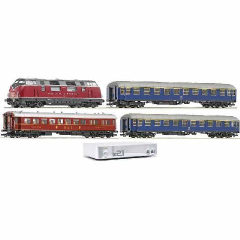 Start Set digital Z21 cu garnitura tren de marfa si locomotiva diesel