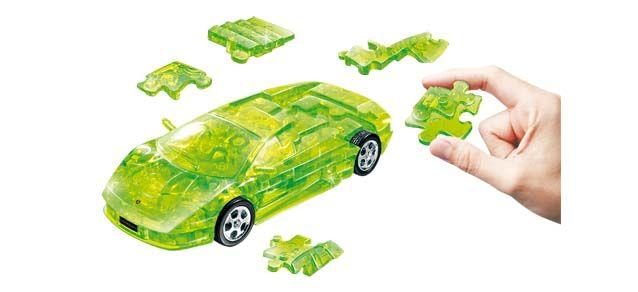 Puzzle 3D,masina,Lamborghini,verde transp,plastic