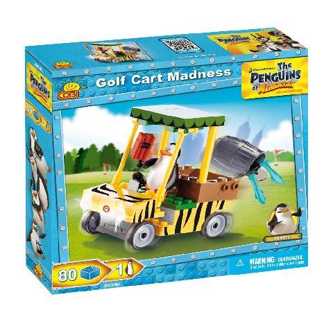 Cobi-Penguins,nebunie cu masinuta de golf