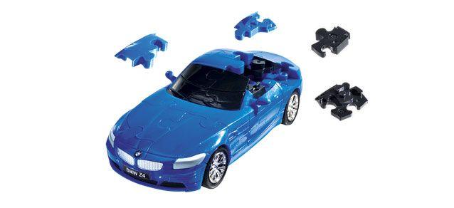 Puzzle 3D,masina,BMW Z4,albstr.mat,plastic