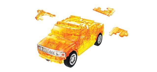 Puzzle 3D,masina,Hummer,portocaliu transp,plastic