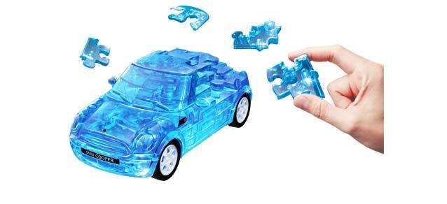 Puzzle 3D,masina,MiniCopper,albst.transp,plastic