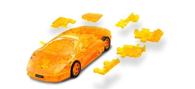Puzzle 3D,masina,Lamborghini,galben transp,plastic