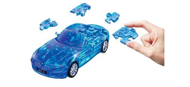 Puzzle 3D,masina,BMW Z4,albstr.transp,plastic