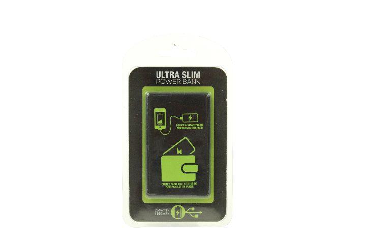 Baterie Portabila Credit Card, Negru